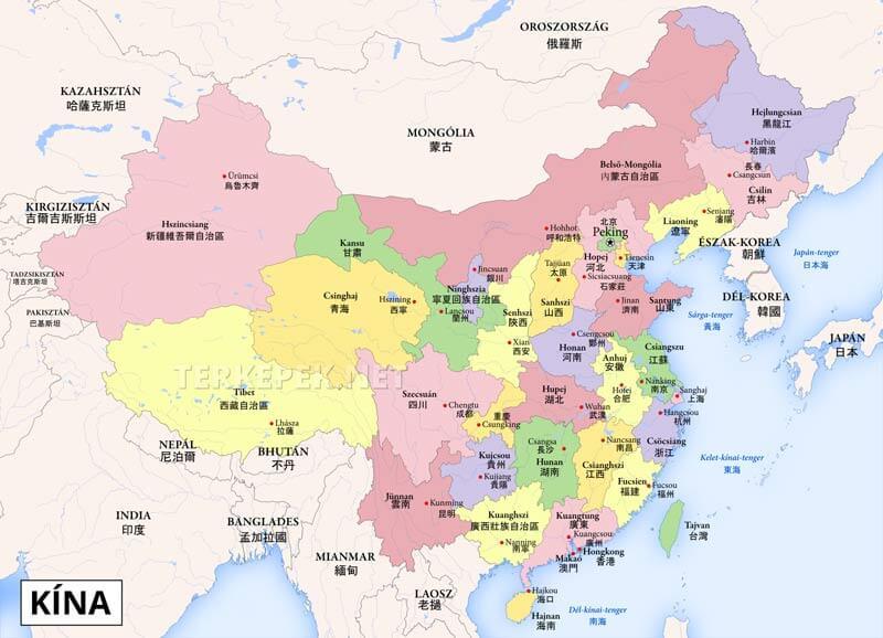 Kina Terkep